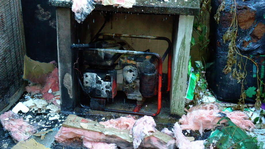Norwalk Fire Department responds to a generator explosion Monday night.
