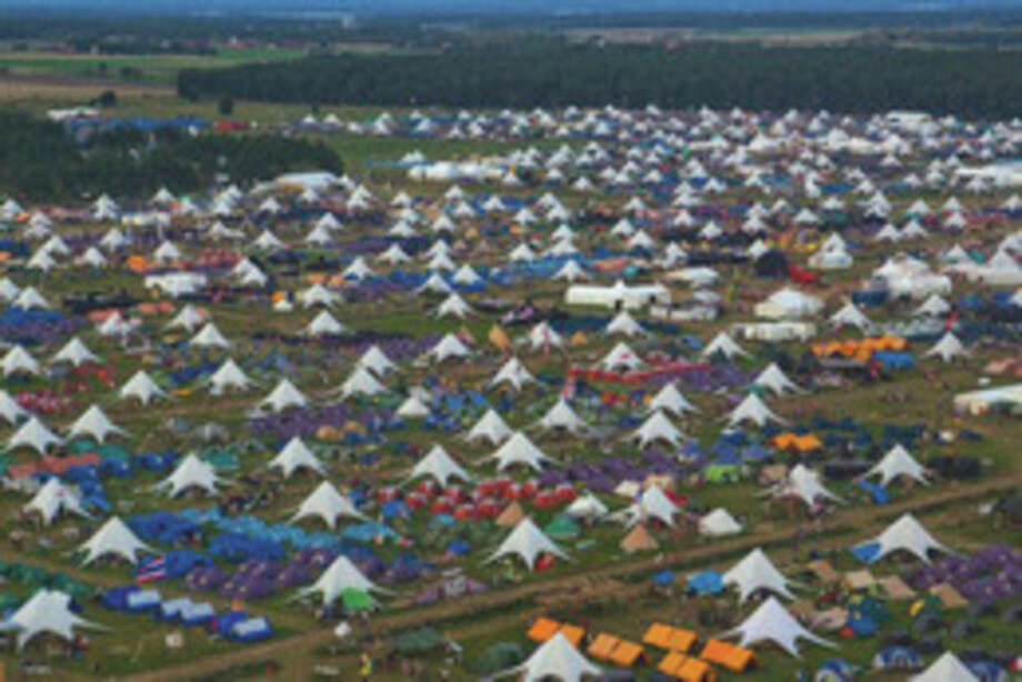 The view from above the 22nd World Scout Jamboree. Contributed photo