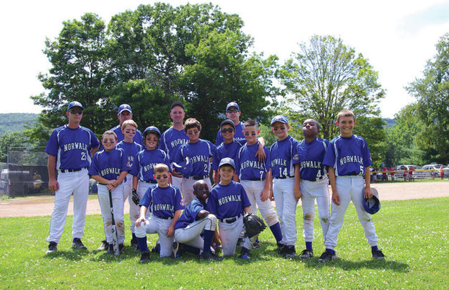 Contributed photoThe Norwalk Cal Ripken 9-year-old all-stars opened state tournament play over the weekend and went 1-1. Norwalk faces Danbury Tuesday night in New Milford.