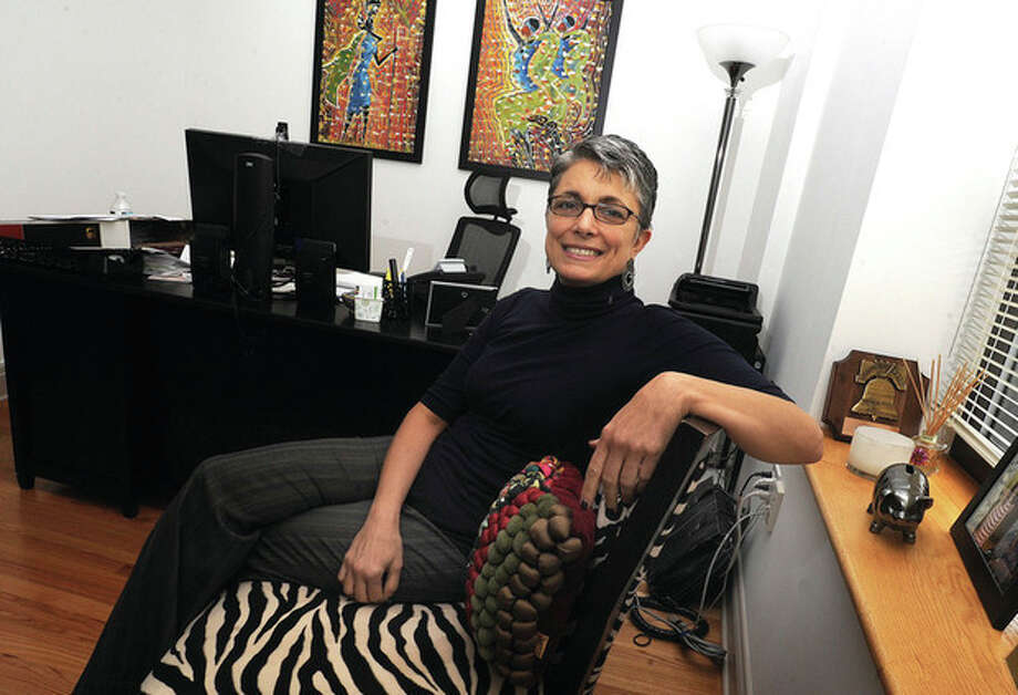 Fran Pastore, President and CEO of Women's Buisness Development Council at her Stamford office. hour photo/Matthew Vinci