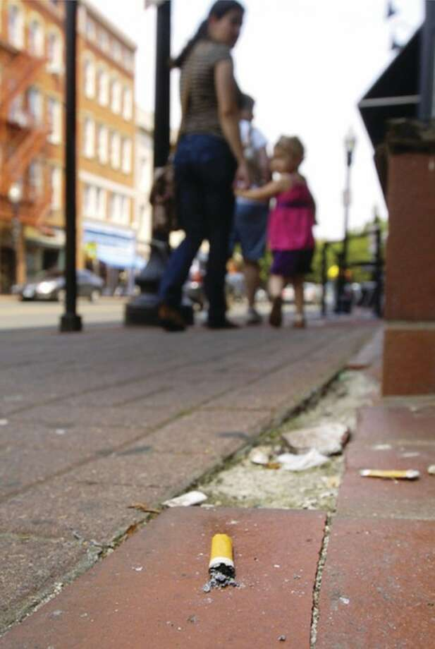 Cigarette butts litter Washington St. Keep Norwalk Beautiful launched its cigarette butt cleanup campaign last week and now wants Washington Street business owners to join the effort.