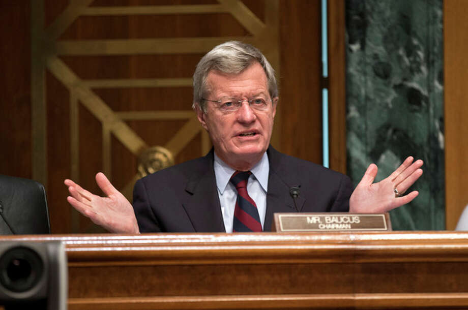 FILE - In this April 17, 2013 file photo, Senate Finance Committee Chairman Sen. Max Baucus, D-Mont. speaks on Capitol Hill in Washington. According to Democratic officials: The six-term Democratic Sen. Max Baucus plans to retire. (AP Photo/J. Scott Applewhite, File) / AP