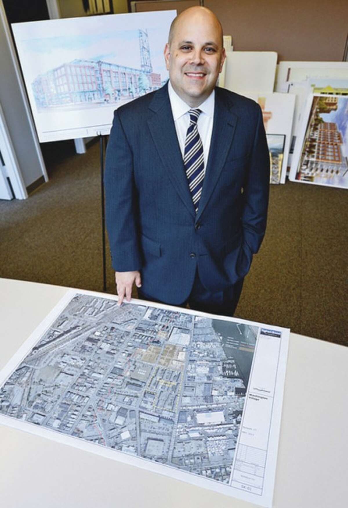 Felix Serrano, newly seated chairman of Norwalk Redevelopment Commission. Hour photo / Erik Trautmann