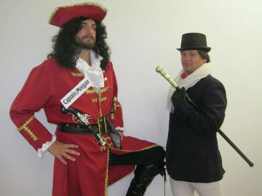 "Contributed photo ""Captain Morgan"" and ""Johnny Walker"" were no-shows at a planned protest outside Diageo Wednesday."