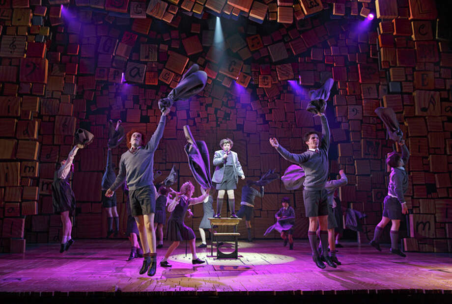 """This theater publicity image released by Boneau/Bryan-Brown shows the cast of """"Matilda The Musical,"""" during a performance in New York. (AP Photo/Boneau/Bryan-Brown, Joan Marcus) / Boneau/Bryan-Brown"""