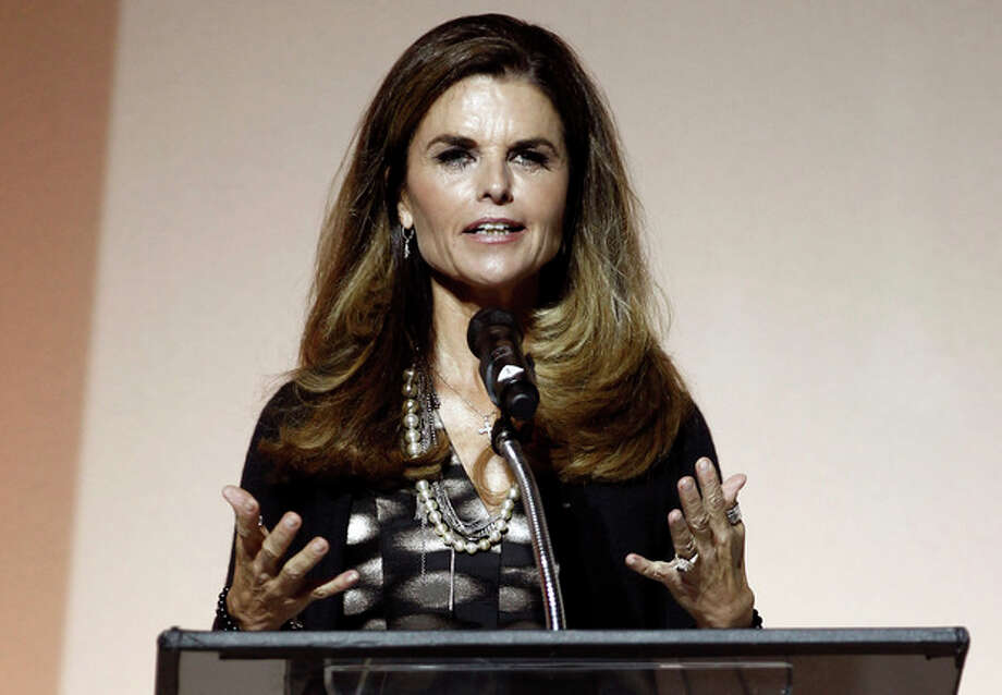FILE - This May 1, 2012 file photo shows Maria Shriver speaking at the 7th Annual MOCA Award to Distinguished Women in the Arts luncheon in Beverly Hills, Calif. NBC announced announced on Tuesday, April 30, 2013, that Shriver will join the network as a special anchor working on issues surrounding the shifting roles of women in American life. (AP Photo/Matt Sayles, file) / AP