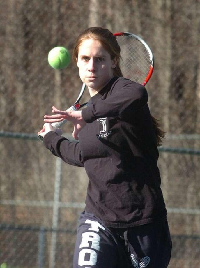 Photo/Alex von Kleydorff. Kimmy Guerin, Weston tennis.