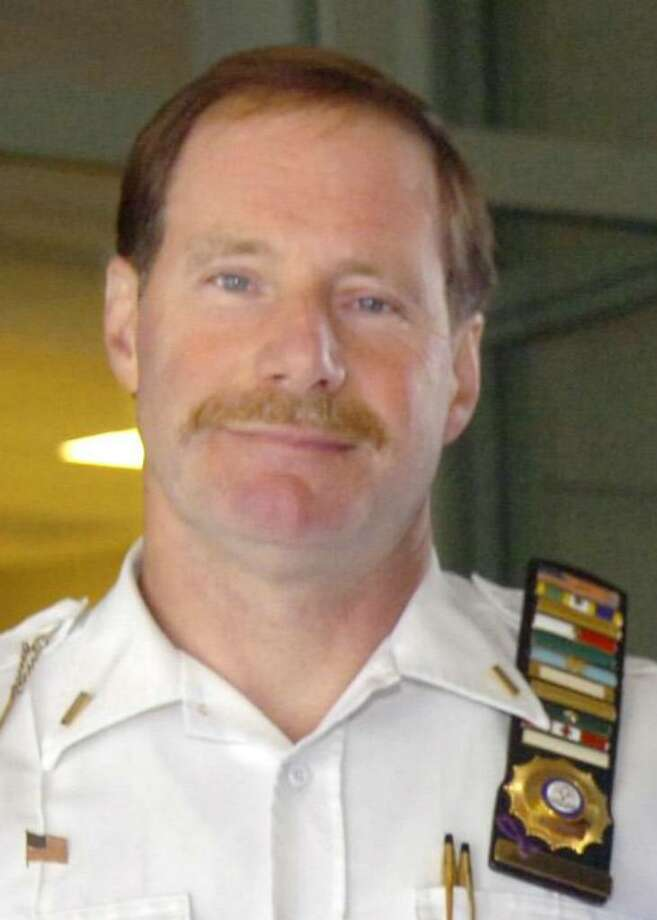 Greenwich Police Lt. Richard Cochran is the recipient of the Greenwich Lions Club 2010 John Clarke Award for his work with domestic violence victims. Photo: File Photo / Greenwich Time File Photo