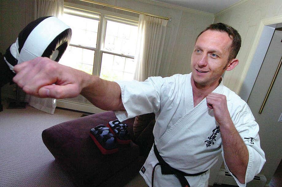 Hour photo / Alex von KleydorffWilton's Marek Mroz will compete in the Kyokushinkaikan Karate Championships in Japan. / 2013 The Hour Newspapers