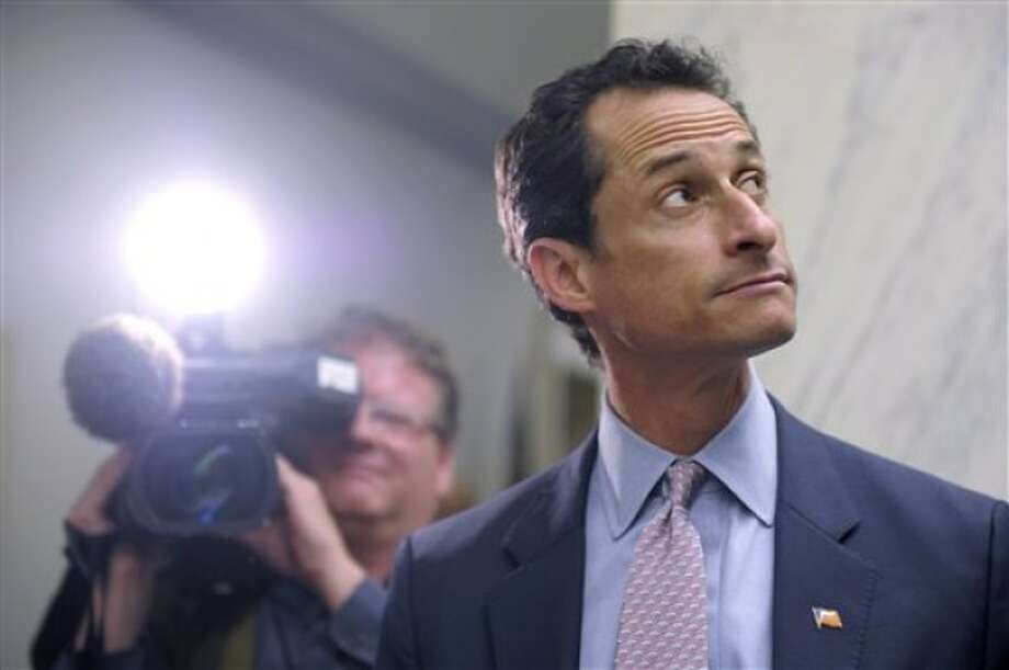 Rep. Anthony Weiner, D-N.Y., waits for an elevator near his office on Capitol Hill in Washington, Thursday, June 2, 2011. (AP Photo/Susan Walsh)