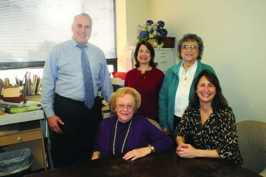 M. Jeffry Spahr, deputy corporation councel in Norwalk''s law department has been elected board president of The Connecticut Association for Children and Adults with Learning Disabilities. In his office with staff, from left, Beryl Kaufman, Sue Ellen Rayphaelson, Ida Kubarych and Jennifer McArthur. hour photo/matthew vinci