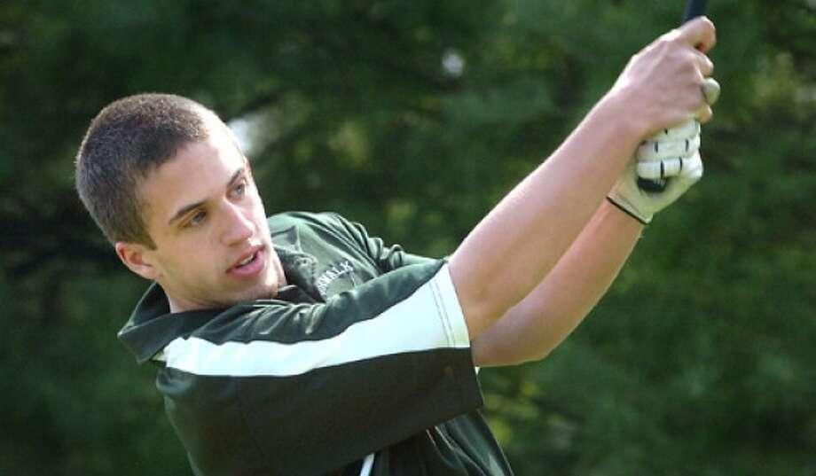 Photo/Alex von Kleydorff. Norwalks Shane Bogdanyi vs Mcmahon golf