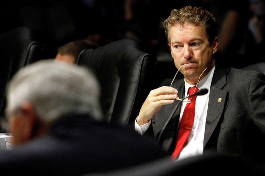 Senate Health, Education, Labor, and Pensions Committee member Rand Paul, R-Ky. listens on Capitol Hill in Washington, Wednesday, Oct. 19, 2011, during the committee's hearing of legislation for the Elementary and Secondary Education Reauthorization Act. (AP Photo/Jacquelyn Martin) / AP