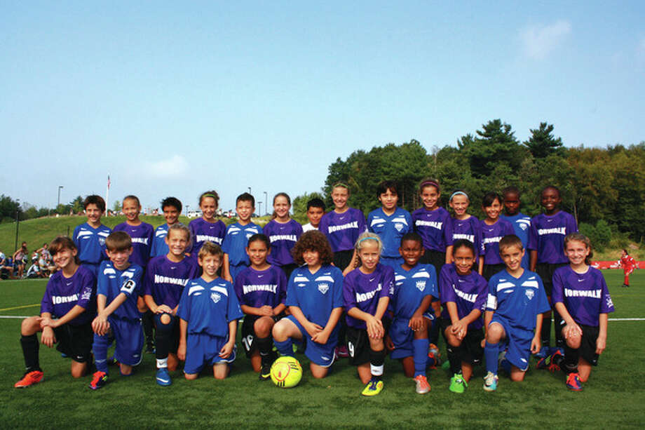 Contributed photo The Norwalk U10 boys Gunners and the U11 girls Blue Thunder both finished second against some rugged competition in the Labor Day weekend FC Stars tournament in Lancaster, Mass.