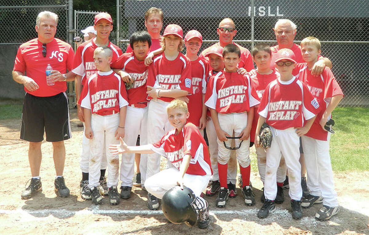 Contributed photo Instant Replay, the North Stamford Little League Majors Division runners-up, pose for a photo during the league?•s championship day festivities.