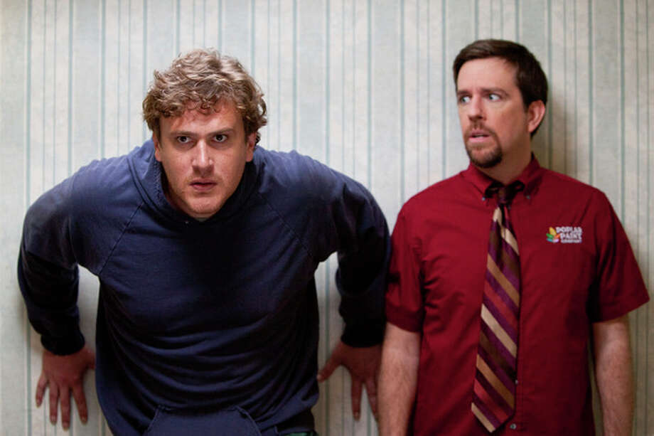 "In this film image released by Paramount Vantage, Jason Segel plays Jeff, left, and Ed Helms plays Pat in a scene from ""Jeff, Who Lives at Home."" (AP Photo/Paramount Vantage, Hilary Bronwyn Gayle) / © 2012 Paramount Pictures.  All Rights Reserved."