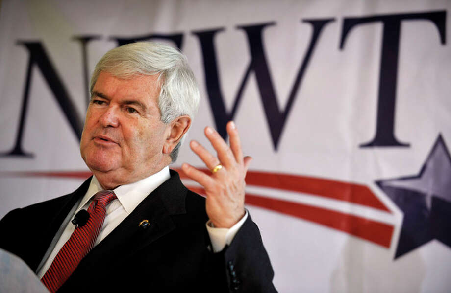 Republican presidential candidate former House Speaker Newt Gingrich speaks during a campaign stop, Friday, Dec. 23, 2011, in Columbia, S.C. (AP Photo/Rainier Ehrhardt) / FR155191 AP