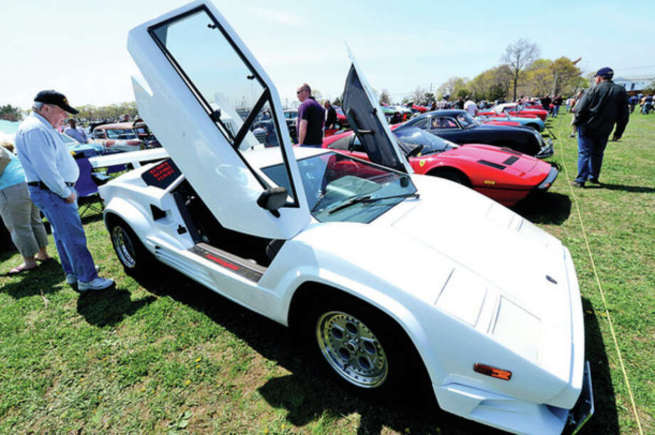 The Exchange Club's Antique Auto Show where 500 to 600 cars were exhibited at Taylor Farm in Norwalk Sunday. The cars ages range from pre 1915 to 1972.Hour photo / Erik Trautmann / (C)2013, The Hour Newspapers, all rights reserved