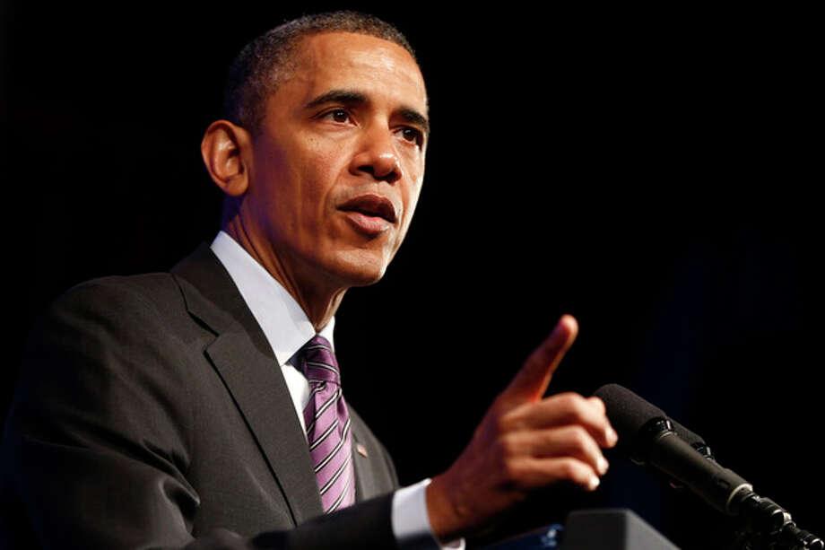 President Barack Obama speaks at the 2013 Planned Parenthood National Conference in Washington, Friday, April 26, 2013. (AP Photo/Charles Dharapak) / AP