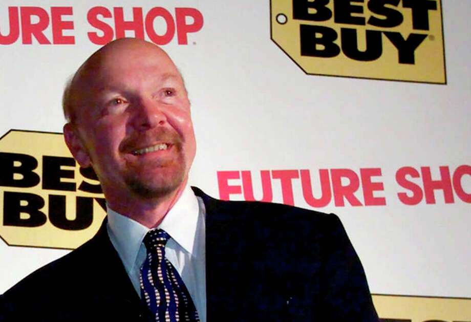 FILE - This Tuesday, Aug. 14, 2001 file photo shows Richard Schulze following a news conference in Vancouver, British Columbia. Best Buy founder Schulze said Monday, Aug. 6, 2012, that he wants to take the electronics retailer private by buying up all of its shares he doesn't already own in a deal that values the company at as much as $8.84 billion. (AP Photo/The Canadian Press, Chuck Stoody, File) / The Canadian Press