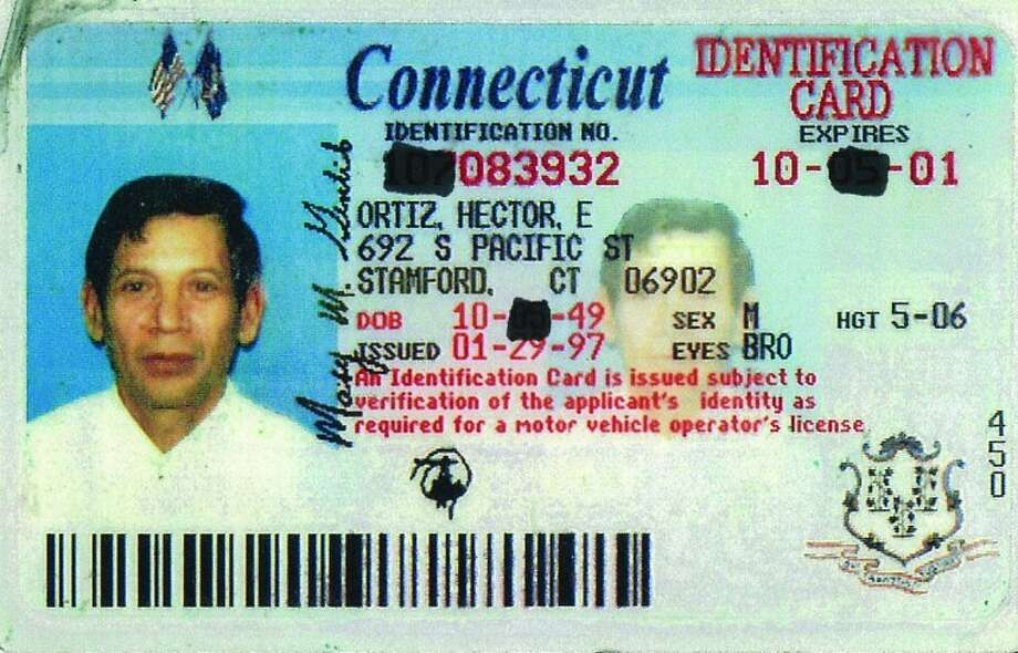 Police found this expired Connecticut identification card on a man who was run over in the Dock Street roadway early Monday morning. Contributed image.