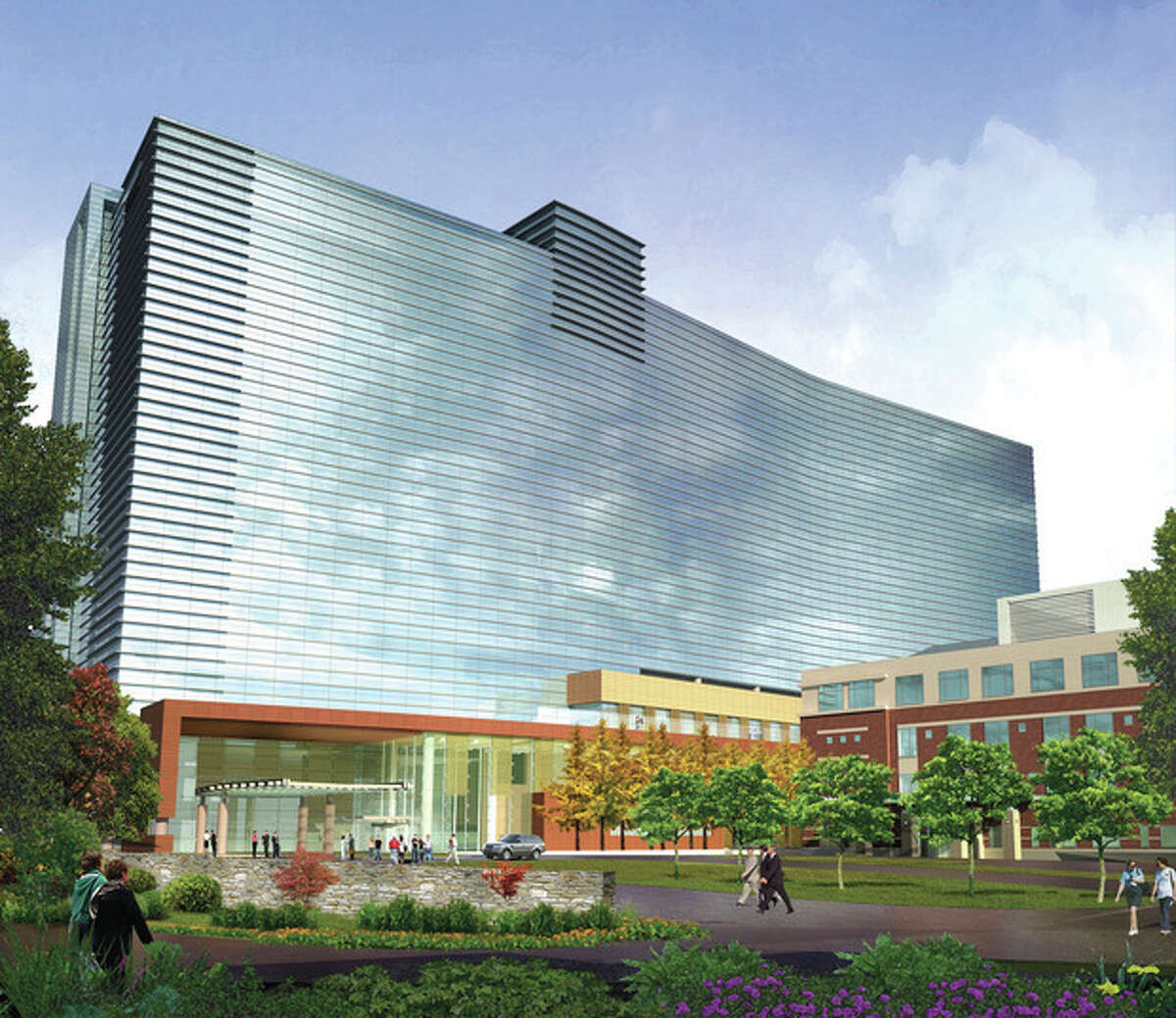 Contributed image A rendering of Stamford Hospital in 2016 after its renovation plans are completed.