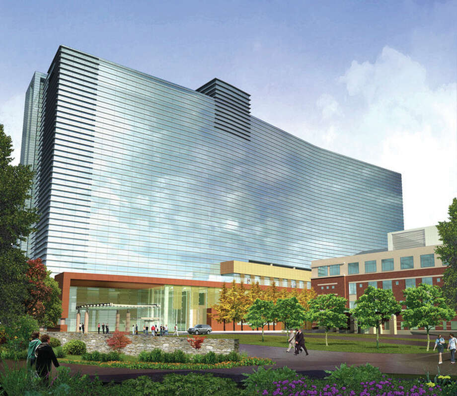 Contributed imageA rendering of Stamford Hospital in 2016 after its renovation plans are completed.