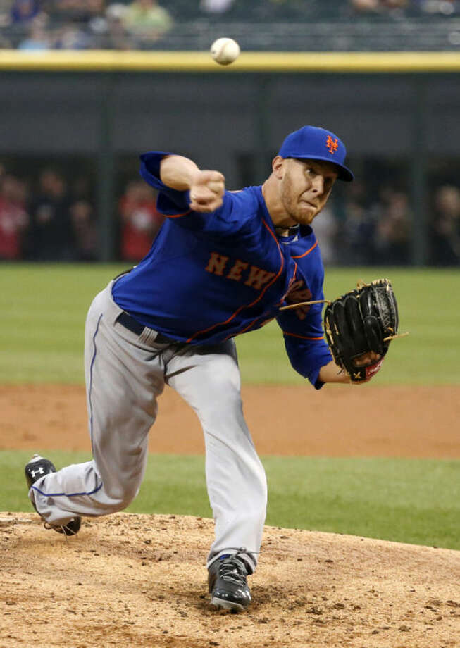 New York Mets starting pitcher Zack Wheeler delivers during the first inning of an interleague baseball game against the Chicago White Sox on Tuesday, June 25, 2013, in Chicago. (AP Photo/Charles Rex Arbogast)