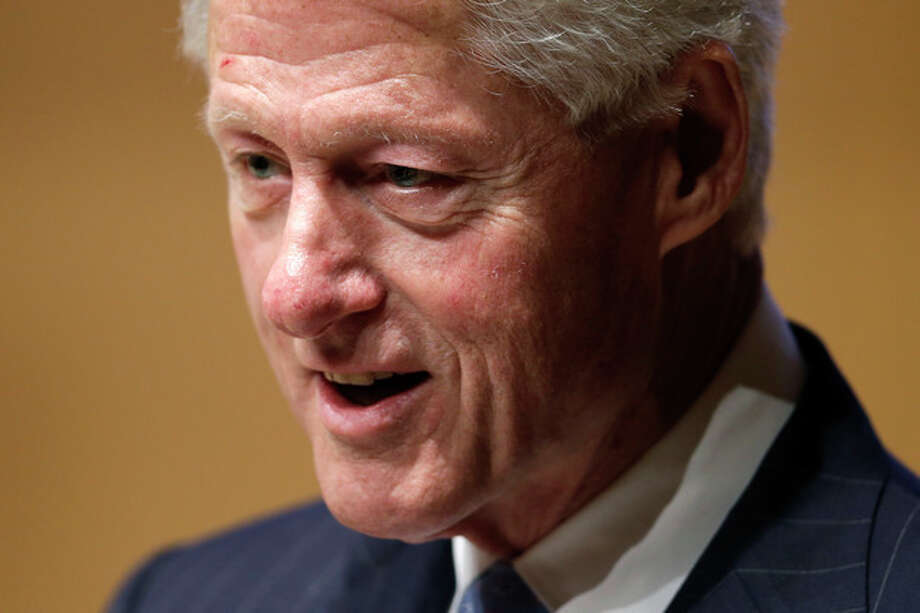 Former President Bill Clinton speaks during a meeting of the State Budget Crisis Task Force at the National Constitution Center, Tuesday, June 25, 2013, in Philadelphia. The event is designed to bring attention to the eroding financial condition of state governments. (AP Photo/Matt Rourke) / AP