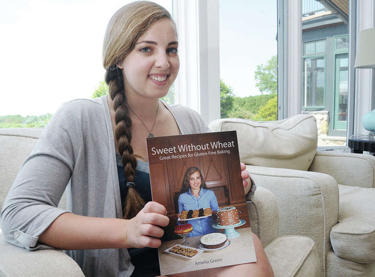 Hour photo / Matthew Vinci Amelia Green of Westport wrote a cookbook for gluten-free baking titled