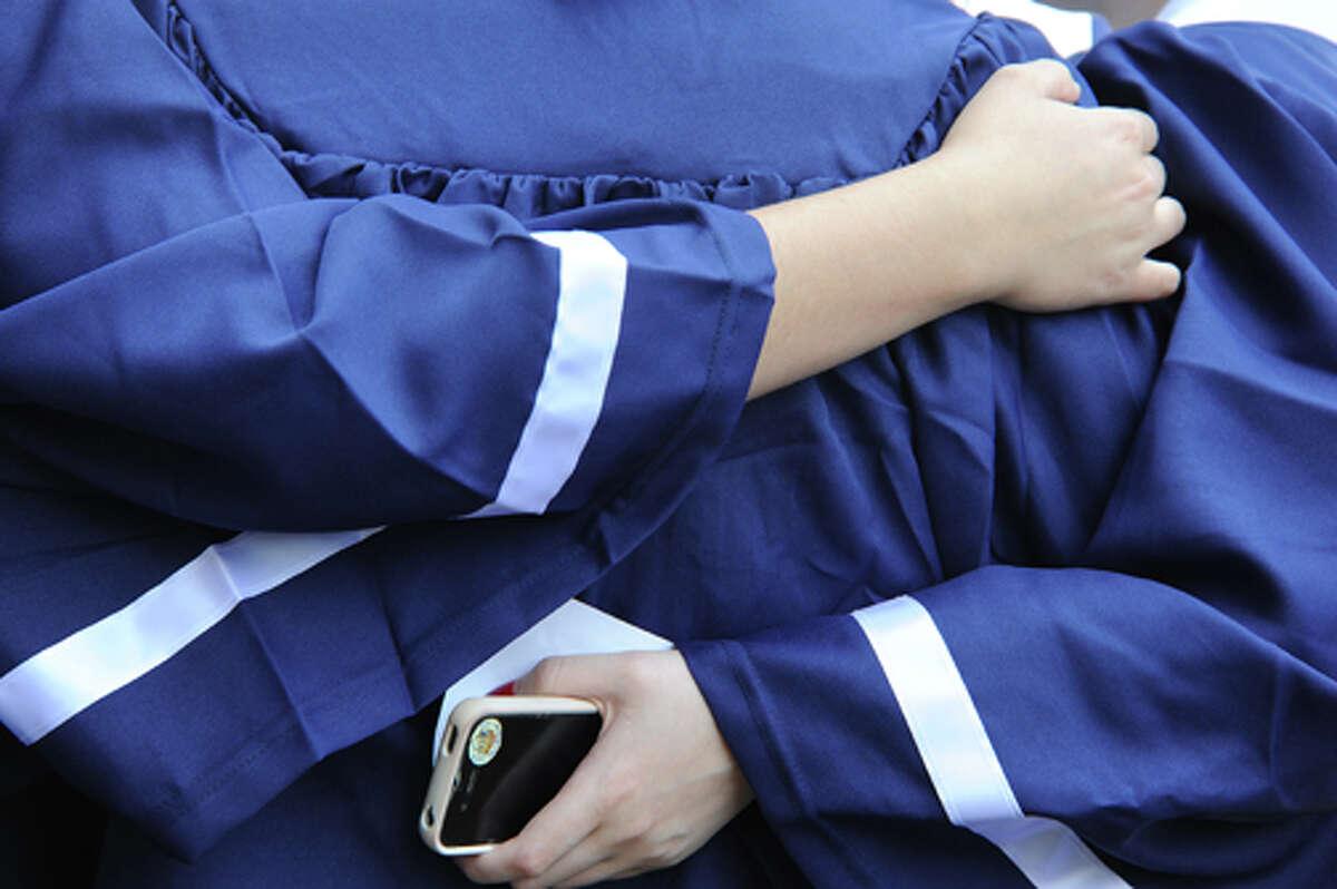 The Staples High School graduation on Friday. Hour photo/Matthew Vinci