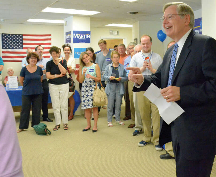 Mayoral candidate David Martin held an open house Saturday to celebrate the grand opening of his campaign headquarters. Martin, a Democrat, has been involved in city politics for more than 25 years. He served on the Board of Representatives from 1987-2009, including eight years as the board's president.