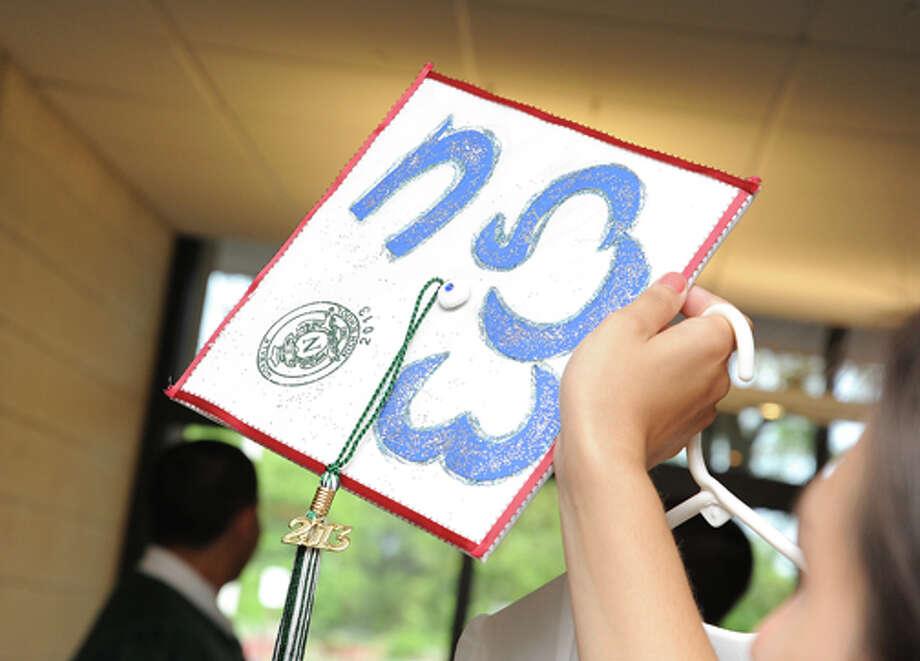 The Norwalk High School graduation on Friday. Hour photo/Matthew Vinci
