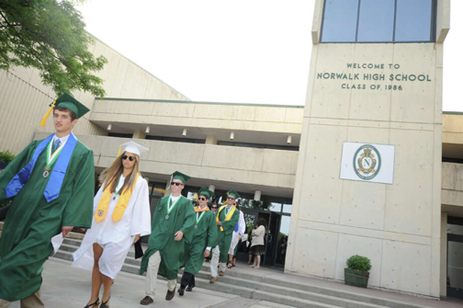 The Norwalk High School graduation on Friday. Hour photo/Matthew Vinci