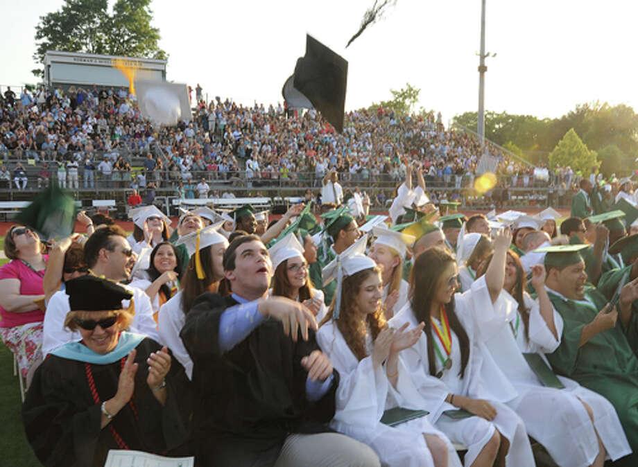 The Norwalk High School Class of 2013. Hour photo/Matthew Vinci