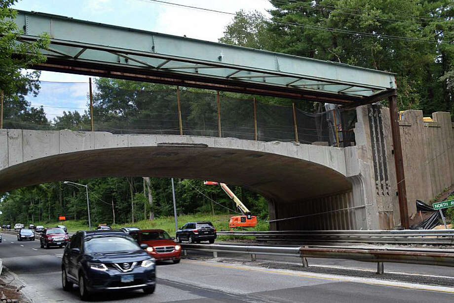 The state Department of Transportation has announced that the North Avenue Bridge over the Merritt Parkway in Westport will be closed to all traffic starting on June 20, 2016. The revised target date for completing this problem-plagued project is now Sept. 15, 2016. Photo: File Photo / File Photo / Westport News