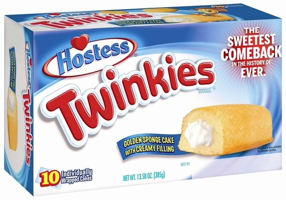 This undated image provided by Hostess Brands LLC shows a box of Twinkies. Twinkies will be back on shelves by July 15, 2013, after its predecessor company went bankrupt after an acrimonious fight with unions last year. The brands have since been purchased y Metropoulos & Co. and Apollo Global Management. (AP Photo/Hostess Brands) / Hostess Brands LLC