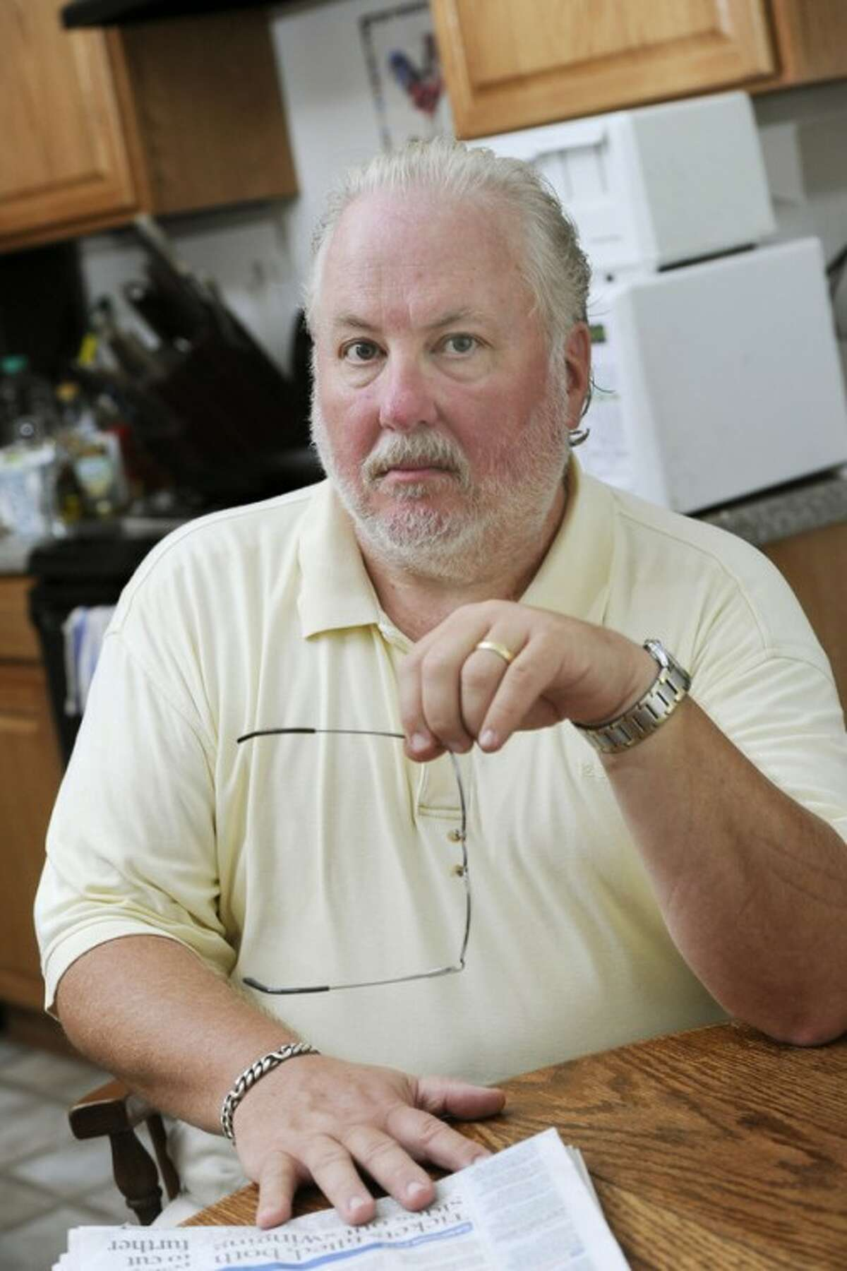 Greg Mann, an unemployed research analyst and real estate appraiser, is pictured at his home Tuesday, Aug. 14, 2012, in Braselton, Ga.. The recession that ended three years ago lingers on as the worst economic recovery since the Great Depression. (AP Photo/John Amis)