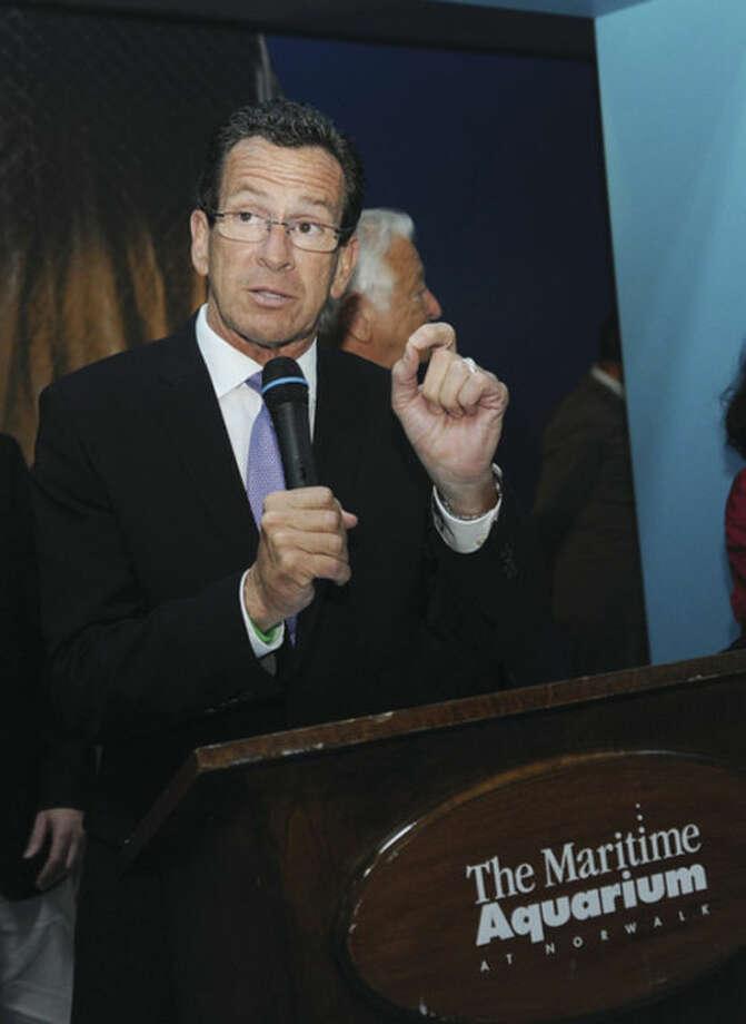 Gov. Dannel P. Malloy speaks at The Maritime Aquarium's 25th anniversary.
