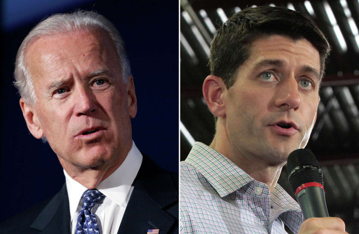 This combo made from file photos shows Vice President Joe Biden, left, and Republican vice presidential nominee Paul Ryan. In some ways, these presidential ticket No. 2s could not be more different. But in other ways, the 42-year-old Republican congressman and 69-year-old Democratic vice president are very much alike. (AP Photo)