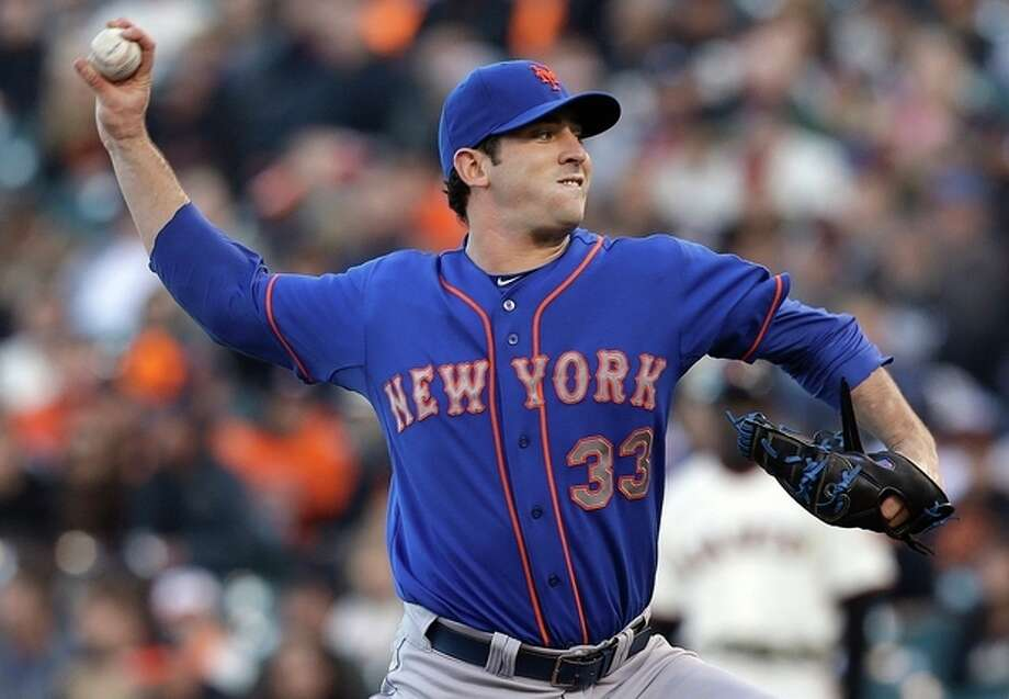 New York Mets pitcher Matt Harvey (33) throws against the San Francisco Giants during the first inning of a baseball game in San Francisco, Monday, July 8, 2013. (AP Photo/Jeff Chiu) / AP