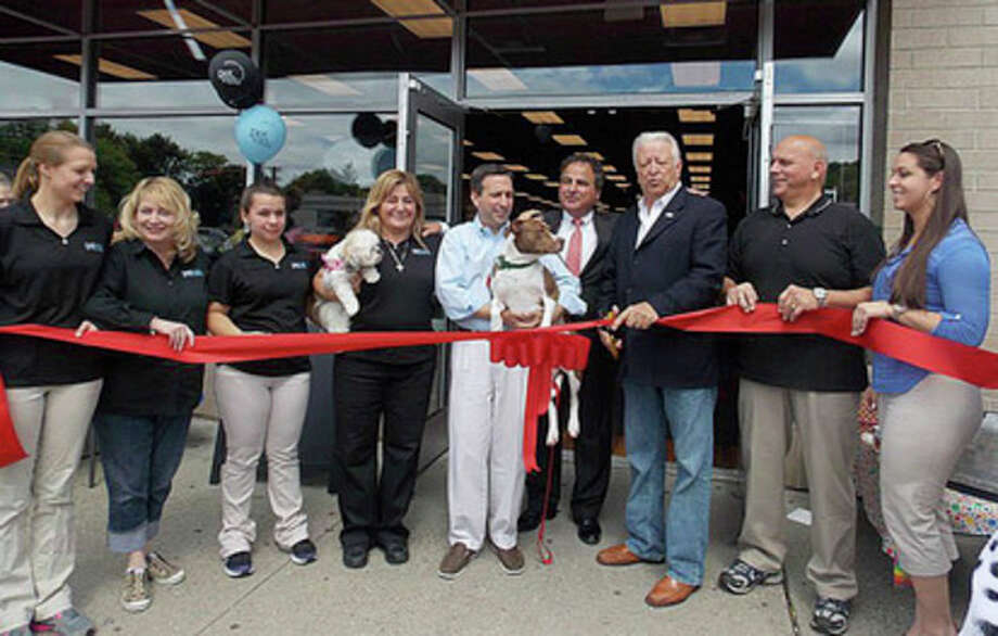 Norwalk Mayor Richard Moccia and state Sen. Bob Duff were among the dignitaries at the ribbon cutting for PetValu recently. Contributed photo