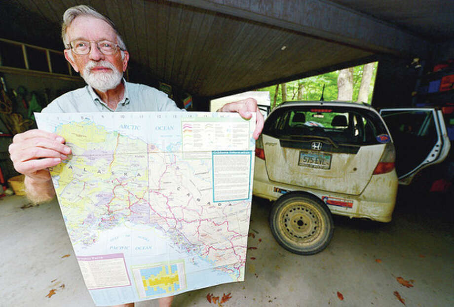 Hour photo / Erik TrautmannFormer Norwalk Mayor Bill Collins recently completed a nine-week drive across Alaska and northern Canada. / (C)2012, The Hour Newspapers, all rights reserved