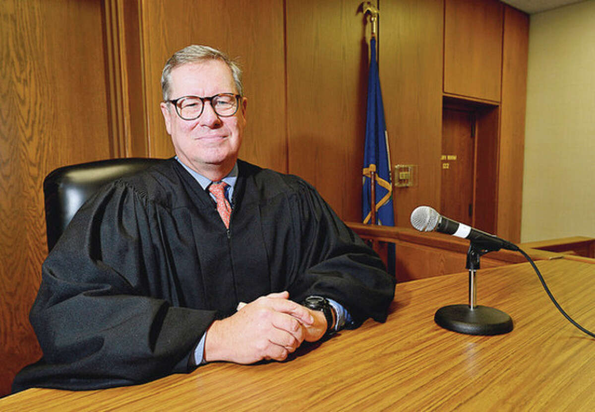 Hour photo / Erik Trautmann Norwalk Superior Court Judge Bruce Hudock will be moving to Stamford Superior Court.
