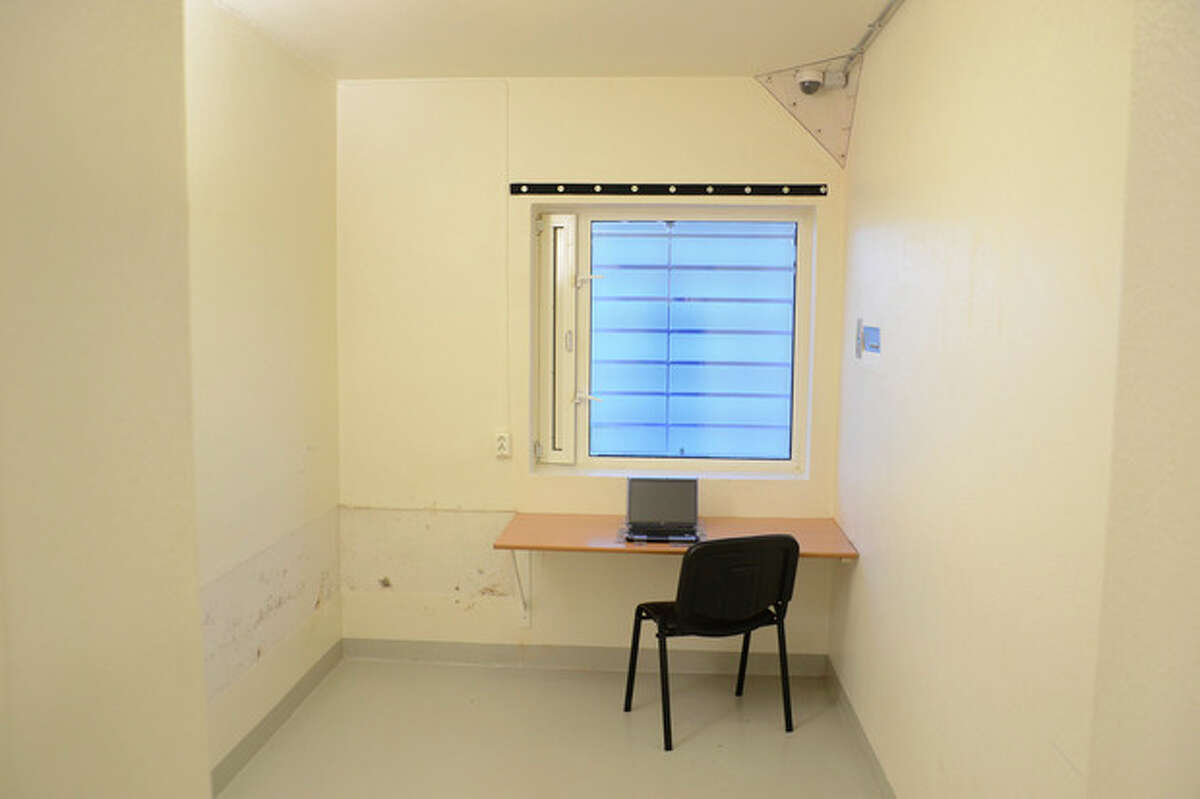 Undated handout picture made available Wednesday Aug 22 2012 by Ila Prison showing one of the cells inside the prison just outside Oslo, Norway where terror charged Anders Behring Breivik has been held most of the time since the July 22 attacks in Oslo and at Utoya last year. The verdict against Breivik is to be announced on Friday August 24, 2012. (AP Photo/ Ila Prison / Glefs AS / NTB scanpix)