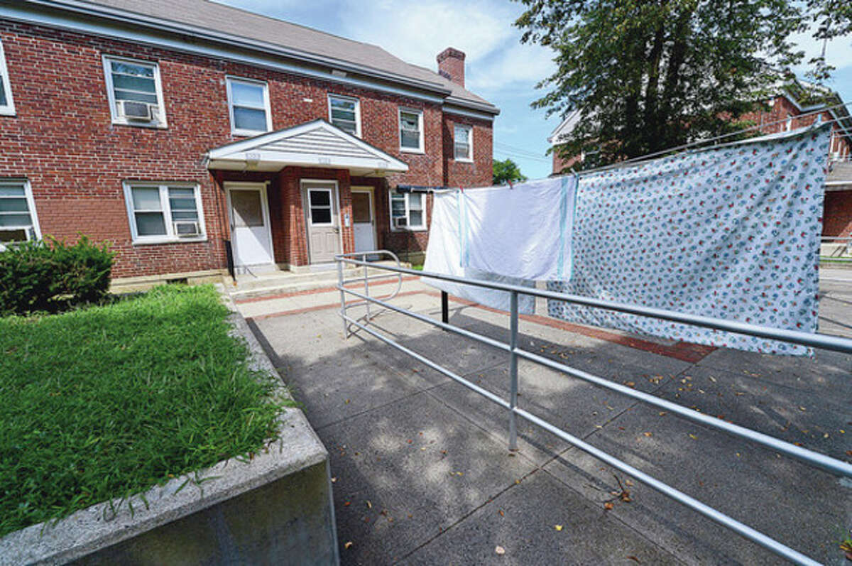 Hour photo / Erik Trautmann Norwalk Housing Authority reportedly forgoing Oct. 1 application deadline for tax credits for reconstruction of Washington Village.