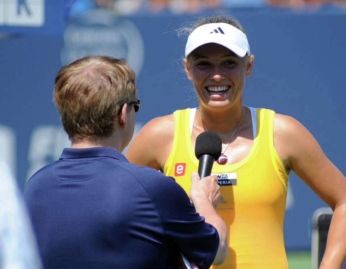 Caroline Wozniacki interviewed post-match