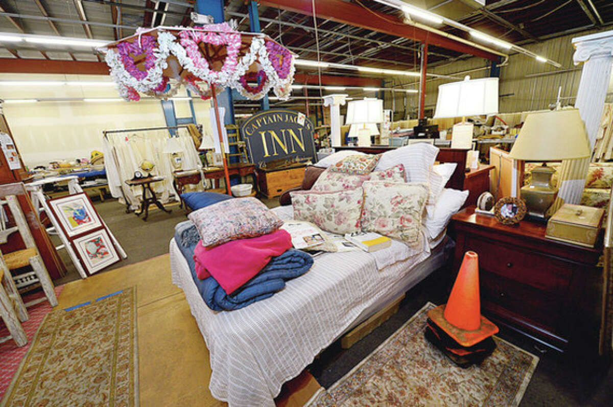 Props used in a major motion picture that was filmed in Norwalk and recently released are up for sale from New England Estate Sales this weekend at 300 Wilson Ave. Hour photo / Erik Trautmann