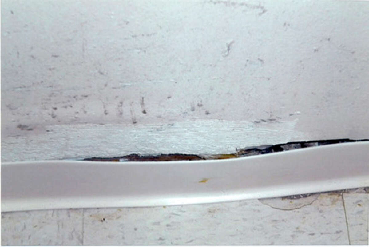 The conditions in a Roodner Court unit. Contributed photo