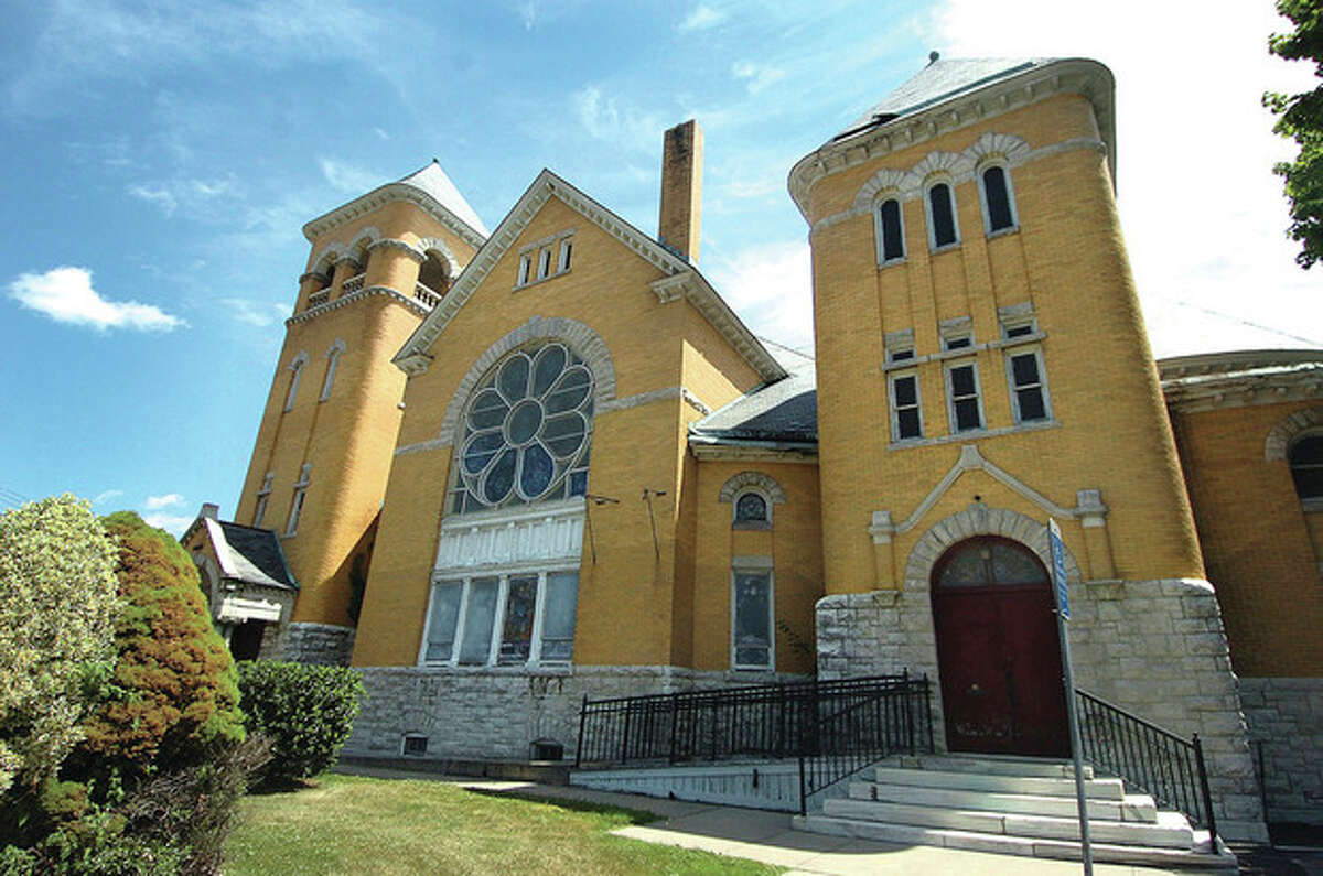 Hour photo / Alex von Kleydorff The Methodist Church on West Ave in Norwalk is facing a possible sale and the city wants to save it.